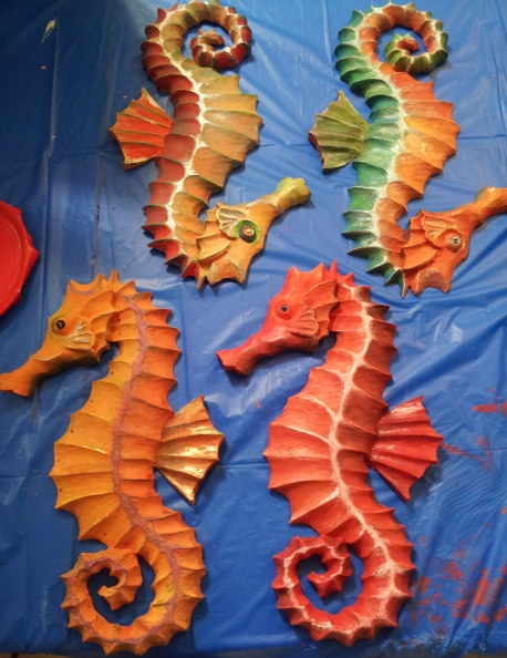 Students completed masterpieces!
