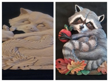 raccoon collage