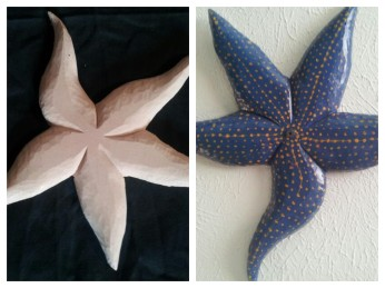 starfish collage